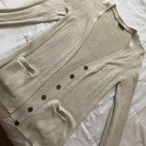 Gap cream colored cardigan